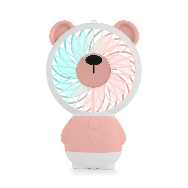 휴대용 손 선풍기 MEFAN 미펜 곰.핑크