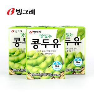 빙그레 맛있는 콩두유 200mlx96팩/검은깨콩두유 두유