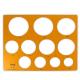 [산키스] 원형정규(大) No.106/도형자/템플렛/제도용품/운형자/모형자