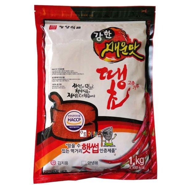 청양식품/강한매운맛 땡초고춧가루ㅡ김치용 1kg