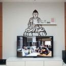 부처님 대형 벽인테리어 그래픽 시트지 셀프인테리어