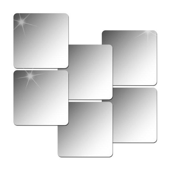 6P_인테리어 안전거울/아크릴거울/붙이는거울 (라운드)