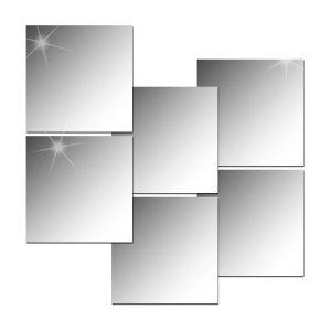 6P_인테리어 안전거울/아크릴거울/붙이는거울 (직각)
