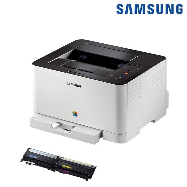 삼성전자 SL-C433 컬러 레이저 프린터 인쇄 +토너포함+