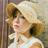 레이스매듭 여성 여름 밀짚모자 벙거지 버킷햇 썬캡