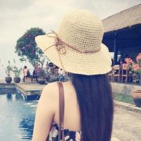 여성 밀짚모자 여름 벙거지 허니문 비치모자 버킷햇