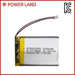 리튬폴리머  DTP 523455 3.7V 1000mAh