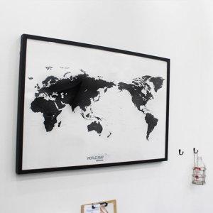 (노크 유어 라이프)WORLD MAP ver.black-white