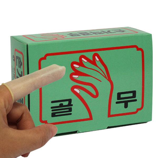손가락골무 80개 손가락 고무 사무용 골무 핑거코트