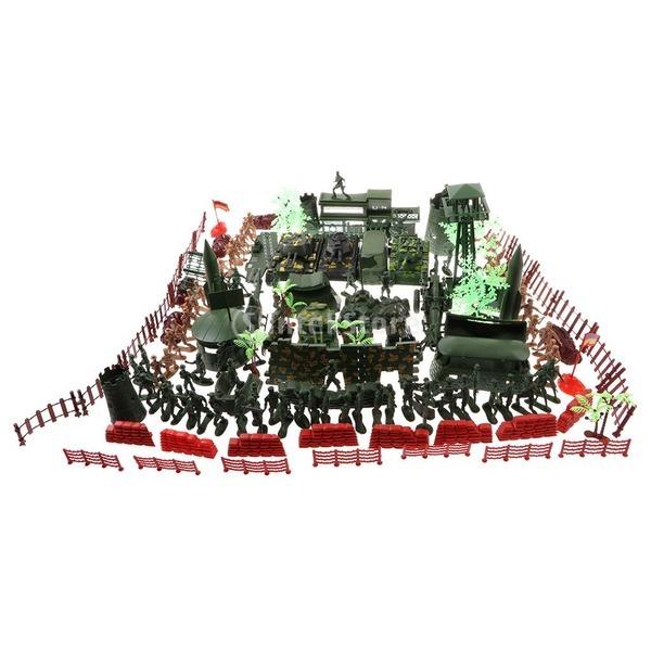 176P플라스틱 육군병사 군인인형 모래장면 모델 선물
