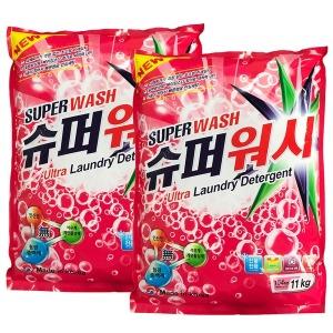 슈퍼워시 (가루세제) 11kg+11kg 세탁세제 세제 대용량