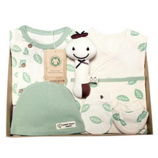 (스윗하트)오가닉 프리미엄 나뭇잎 신생아 선물세트(