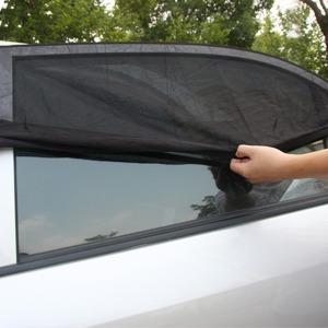 윈도 차양 모기장/차량용 햇빛가리개/흡착식/차박