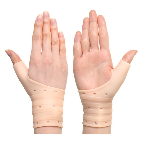 히든컴퍼니 국내산 실리콘 손목보호대 2p / 4중압박