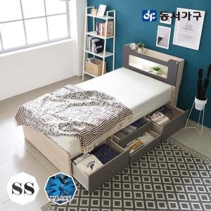 스텔라 LED 4서랍 침대 슈퍼싱글 (본넬매트리스)