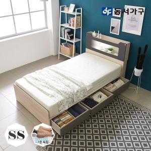 스텔라 LED 3서랍 침대 슈퍼싱글 (7존독립매트리스)