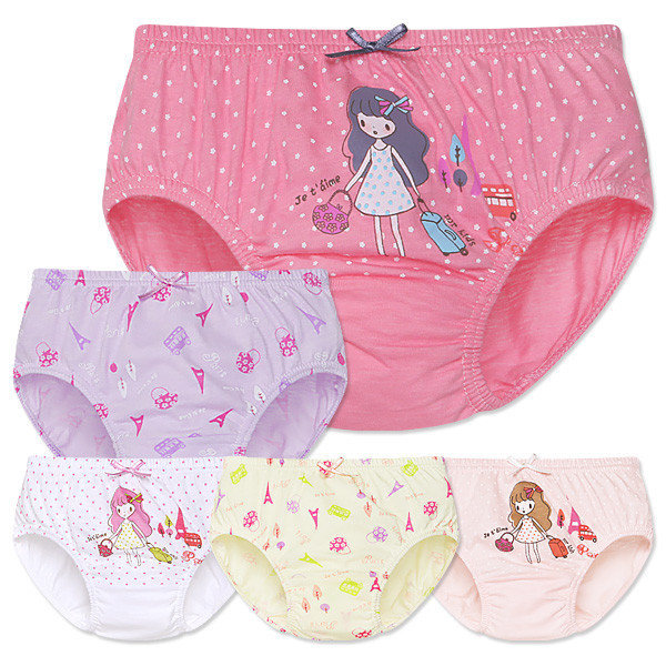 MR키즈 쥬뗌므 여삼각 5매입 아동팬티 아동속옷 사각