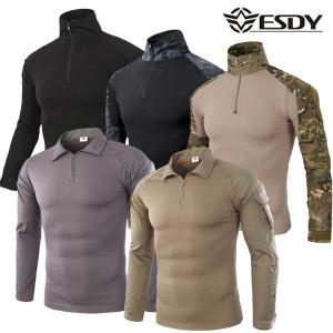 ESDY 서바이벌 컴뱃 긴팔 셔츠_전술 밀리터리 티셔츠
