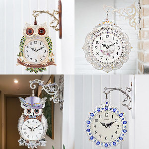 양면시계/부엉이/양면벽시계/엔틱벽시계/벽걸이시계