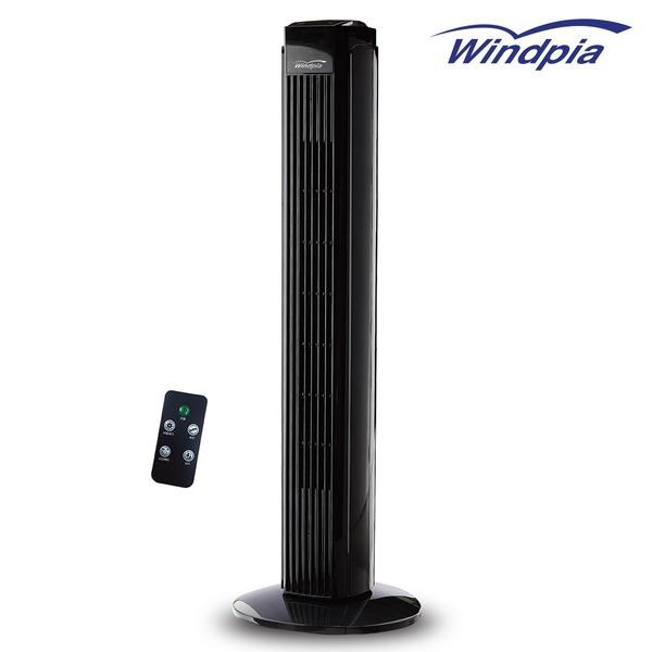 퓨어블랙 리모콘 타워팬/타워형선풍기 WINDPIA-S12T