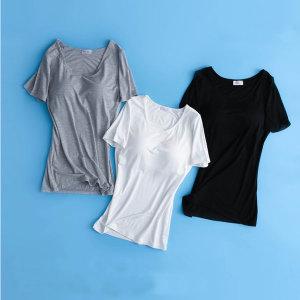 브라캡 내장 반팔티셔츠(3color) 캡티셔츠