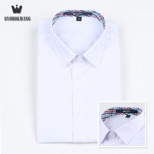 (교복왕(Gyobokwang))  교복왕  교복 남자와이셔츠 멀티민트 체크
