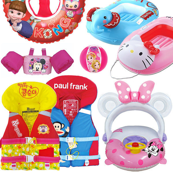 KC안전 유아 아동 구명조끼 튜브 보행기 물놀이용품