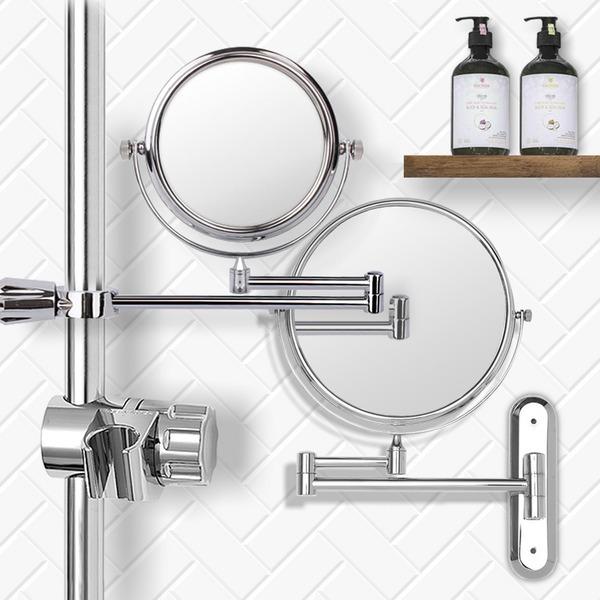 면도경 샤워바용 벽붙이용/욕실 면도거울 확대 화장실