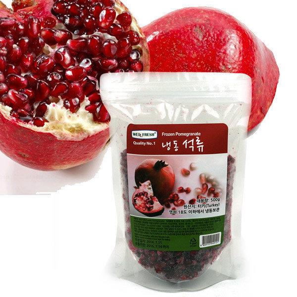 우리존 냉동 알갱이 석류 2.5kg(500gx5봉)