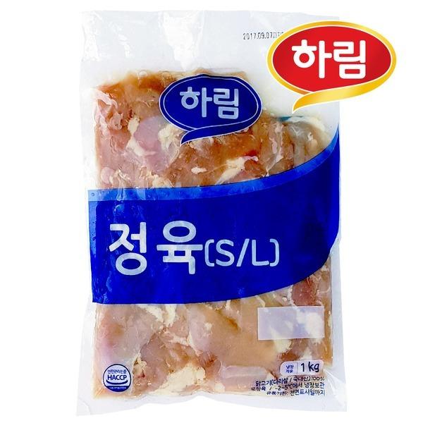 하림 냉장 정육 S/L 1kg / 껍질없고 뼈없는 닭다리살