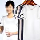 하얀비WR2722 시스루 트임소매 리본 반팔 정장 티셔츠