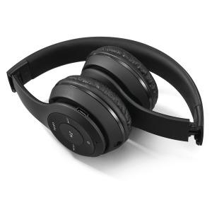 유선+무선 접이식 블루투스 헤드셋/FM라디오/MP3/블랙