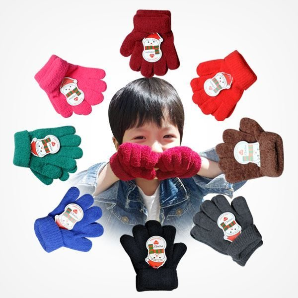 (두루루) 포근포근 보들보들 유아동 탁텔 손가락 장갑