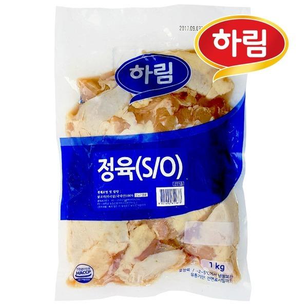 하림 냉장 정육 S/O 1kg / 껍질있고 뼈없는 닭다리살