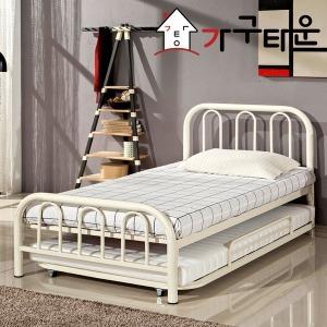 철제 이단 침대 DW132 DW152 슬라이딩 매트리스 포함