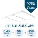 조명뱅크 LED조명 밀레 40평형 세트