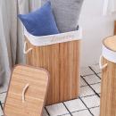대나무 세탁 바구니(사각) /빨래바구니/세탁정리함