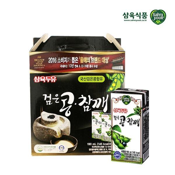 삼육 검은콩참깨두유 190ml x 16팩 스마일배송