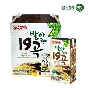 삼육 발아현미19곡두유 190ml x 16팩 스마일배송