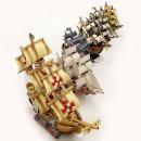 킹콩 종이모형 범선 6종 세트 3D퍼즐 종이만들기