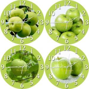 재물운 풍수인테리어 애플 원형 무소음 사과벽시계