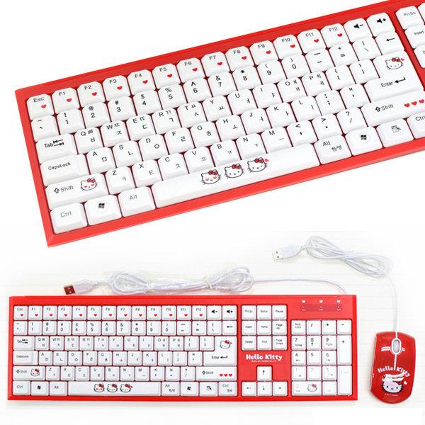 헬로키티 정품 키보드   마우스 1SET HK-KB908 COMBO