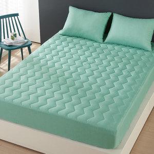 높이31cm순면(누빔)침대커버/매트리스커버/칼라방수