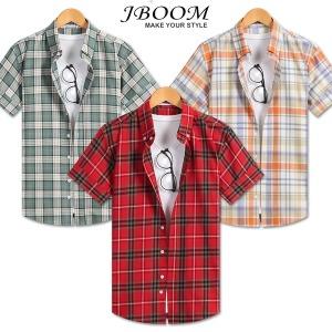체크남방 반팔 셔츠 남방 여름 와이셔츠 남자 남성 옷