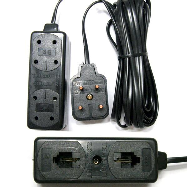 6P 2C 5구 전화선 멀티탭 전화기코드 전화선케이블 4M