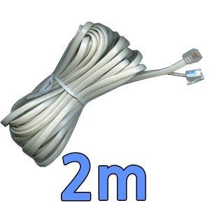 흰색전화선 2m 컨넥터 2m 전화케이블 양모2m