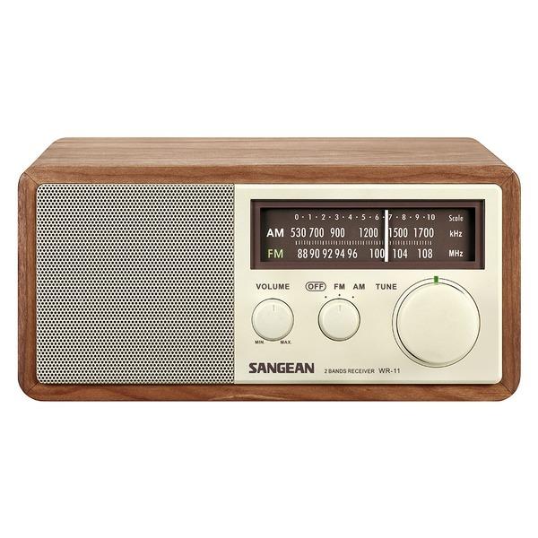 산진 WR-11 아날로그 탁상용 라디오 220V 정식수입