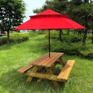 테이블나라 6-8인용 방부목 야외용테이블
