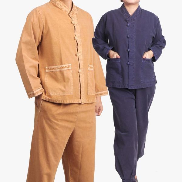 MC208_면20수 브이넥 저고리+바지/생활한복 개량한복