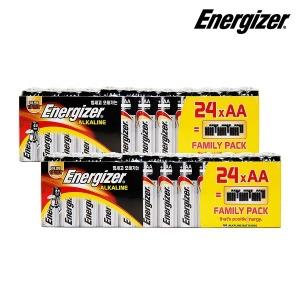 에너자이저 알카라인 건전지 패밀리팩 AAA 48입(24X2)